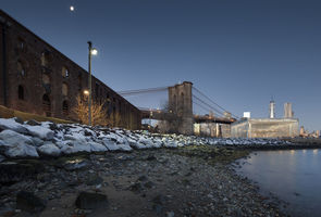 Brooklyn Bridge,  Old Empire Stores and Shorline